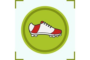 Soccer boot color icon