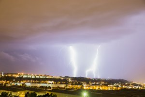 thunder and lightning storm