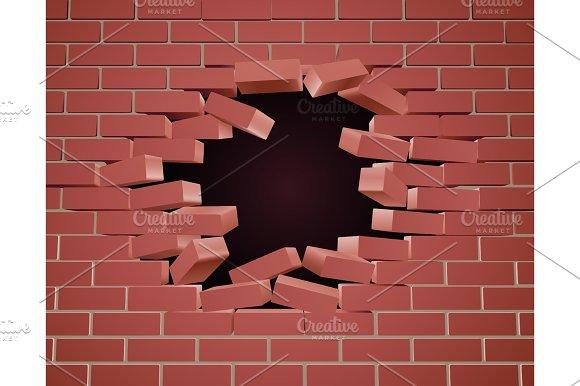 Breaking Brick Wall Hole