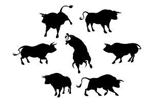 Bull Silhouettes