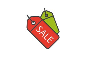 Sale badges color icon