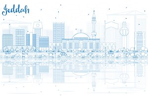 Outline Jeddah Skyline