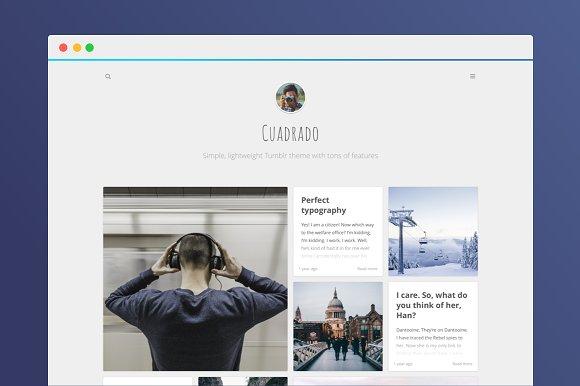 Cuadrado Premium Tumblr Theme