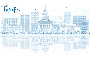 Outline Topeka Skyline
