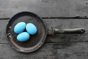 Beautiful colored Easter eggs. Easter holidays.
