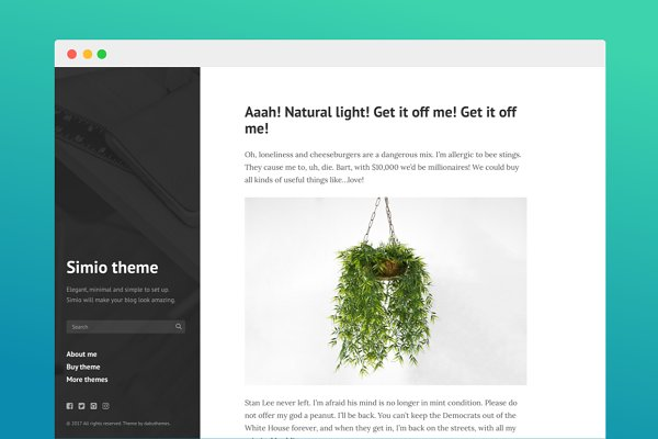 Tumblr Themes: Dabu Themes - Simio Tumblr theme