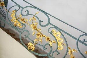 Decorative jugendstil bannister