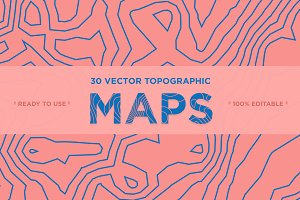 30 Vector Topographic Maps