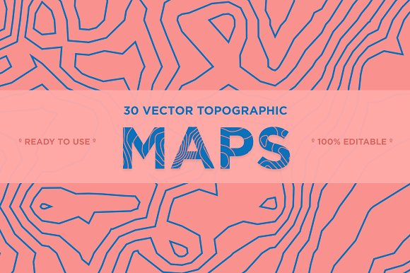 30 Vector Topographic Maps-Graphicriver中文最全的素材分享平台