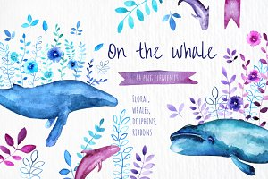 On the Whale - Watercolor set