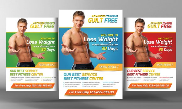Fitness Flyer Template Flyer Templates on Creative Market – Fitness Flyer Template