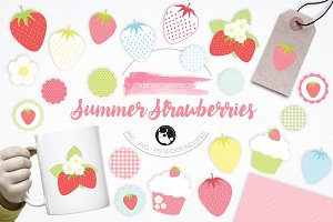 Summer Strawberries illustrations