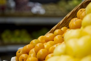 Oranges in the store