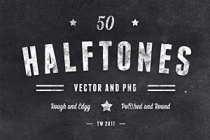 50 Vector Halftones Rough & Polished
