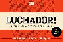 Luchador - Serif display typeface