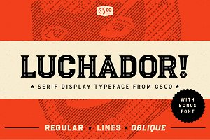 Luchador - Serif display typeface ~ Display Fonts ~ Creative