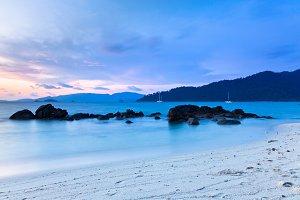 Sunset on the seashore, Thailand