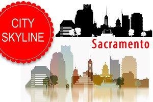 Sacramento Vector skyline