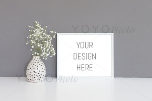8x10 Frame Mockup on Dark Background