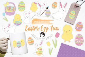 Easter Egg Fun illustration pack