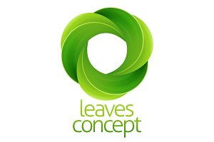 Circle Leaves Concept