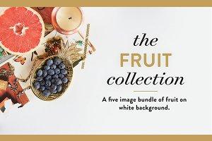 Fruit On White Photography Bundle