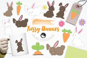 Fuzzy Bunnies illustration pack