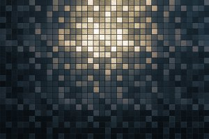 Mosaic metallic square background