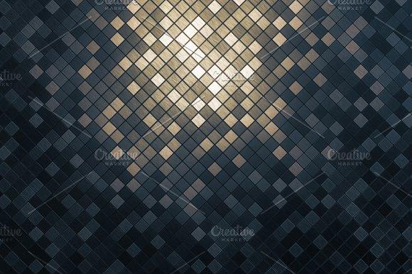 Mosaic Square Pattern Background