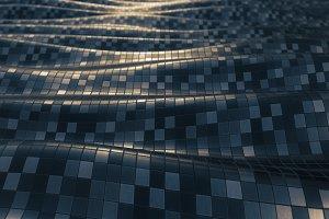 Mosaic metallic soft background