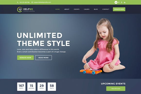 Charity PSD Template Helpme