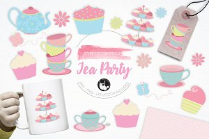 Tea Party illustration pack