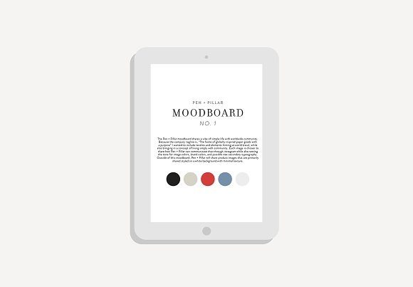 Moodboard Template Adobe InDesign