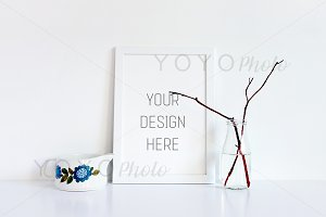 White A4 Frame Photo, Frame Mockup