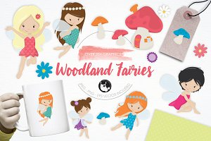 Woodland Fairies illustration pack