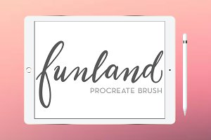 Funland procreate brush calligraphy