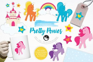Pretty Ponies illustration pack