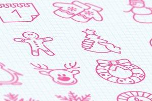 16 Christmas icons