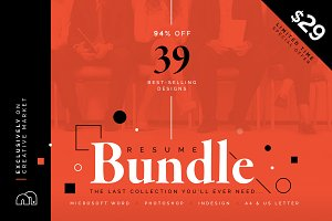 94% OFF Resume/CV Bundle