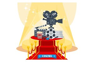 cinema on red carpet