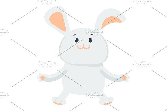 small happy bunny