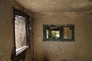 Windows Weathered Wall
