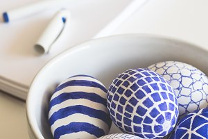 Contemporary easter eggs