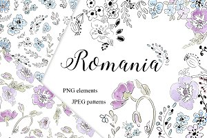 ROMANIA clipart, patterns + GIFTS