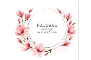 Natural vintage greeting card
