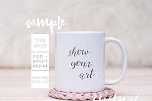 11oz Ceramic Mug Mockup + PSD