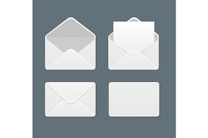 Template Blank Mail Envelope