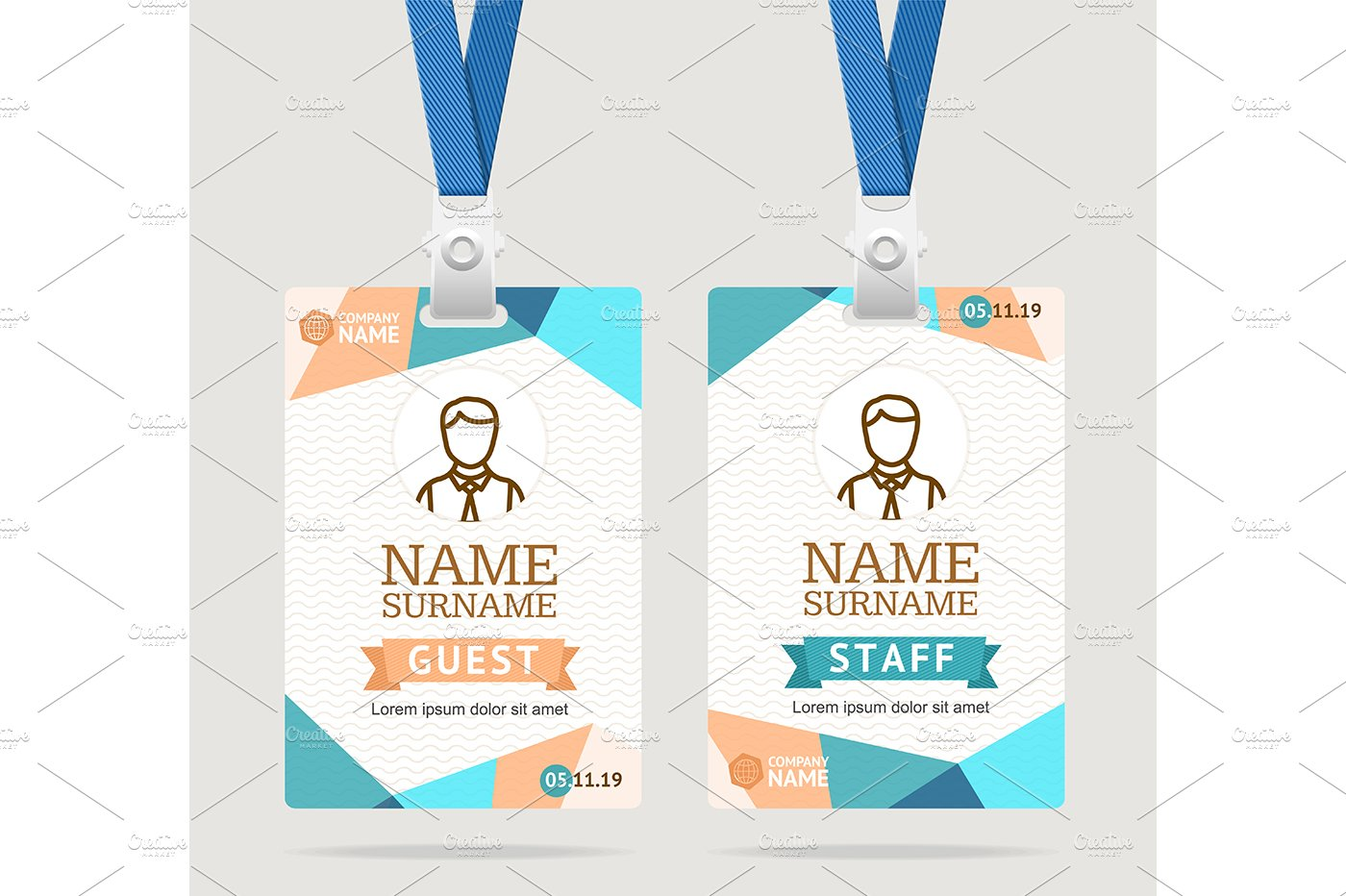 Event Id Card Photos Graphics Fonts Themes Templates Creative - Event badge template