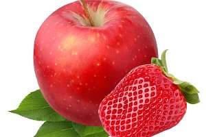 Apple and strawberry