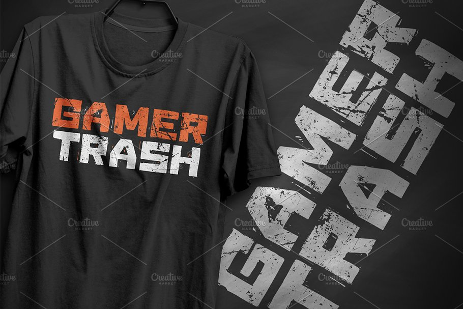 d5d94f76 Gamer trash - T-Shirt Design ~ Illustrations ~ Creative Market